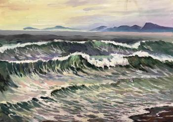 The waves of the Pacific ocean. Kamchatka (Kamchatka Landscape). Stepanov Pavel