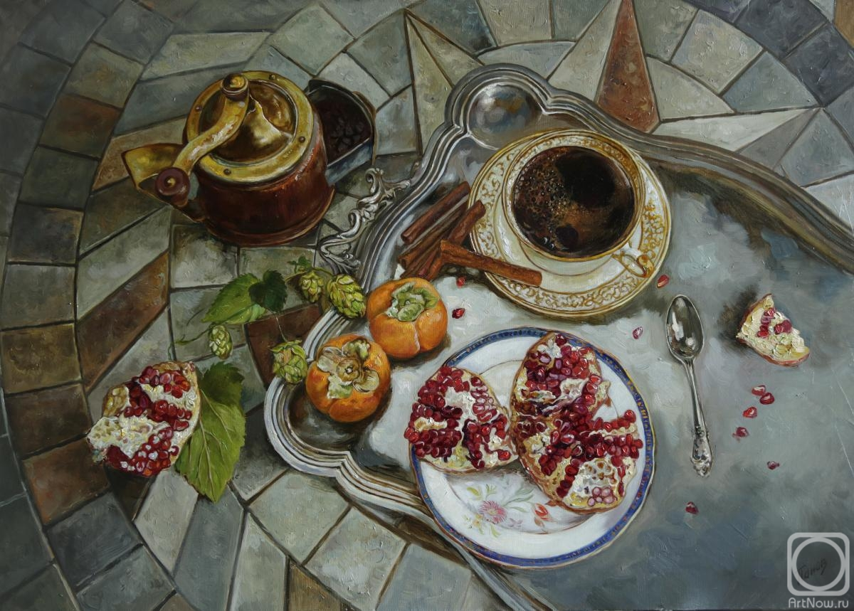 Panov Eduard. Coffee and pomegranate