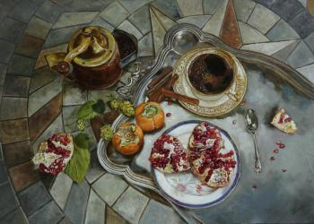 Panov Eduard Eduardovich. Coffee and pomegranate