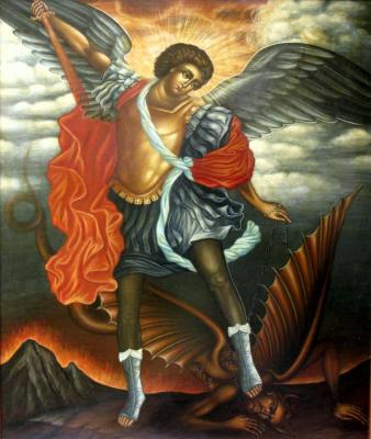Shurshakov Igor. The Archangel Michael (religious painting)
