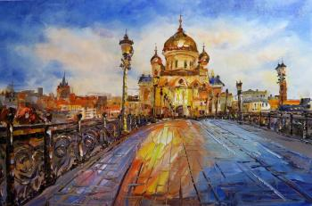 View of the Cathedral of Christ the Saviour across the Patriarchal bridge. JRE version. Rodries Jose