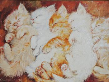 Simonova Olga. The sleeping kittens