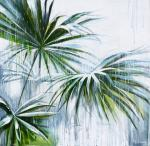 Lutokhina Ekaterina. The palm tree in the rain