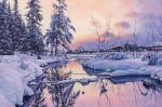 Volya Alexander. Winter river, Sunrise