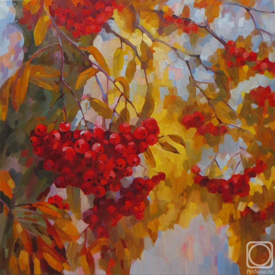 Chizhova Viktoria. through branches and bunches of Rowan