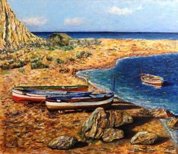 Strunina Galina. Boats by the sea