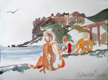 Koktebel. Beach sketches. No. 1. Petrovskaya-Petovraji Olga