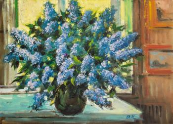 Kremer Mark. Lilacs by the window in summer