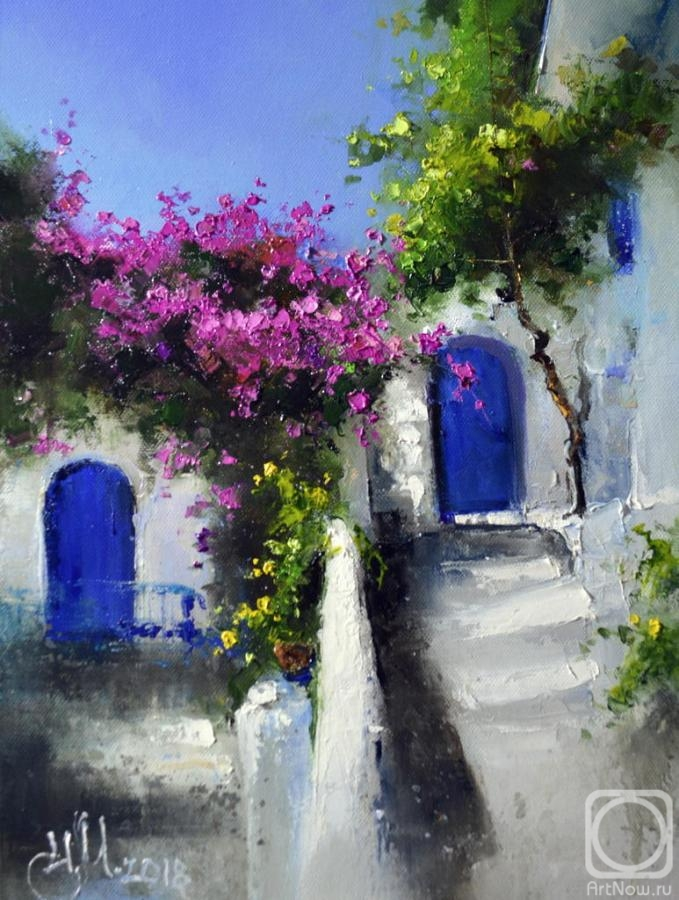 Medvedev Igor. The Greek courtyard. Lindos