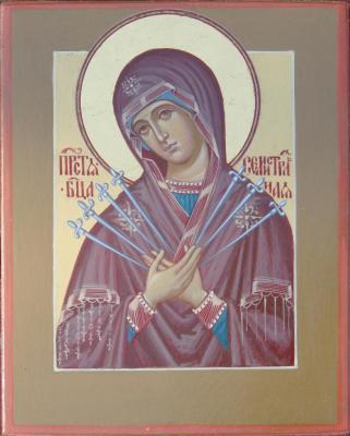 Seven arrows icon of the Mother of God