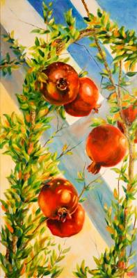 Manucharyan Aram. Pomegranates on a branch