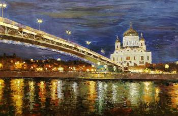 View of the Cathedral of Christ the Saviour through the Patriarchal bridge N 3. Vevers Christina