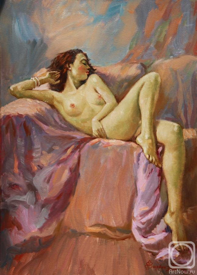 Vyrvich Valentin. The model on the sofa