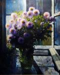 The flowers on the window. Andrianov Andrey