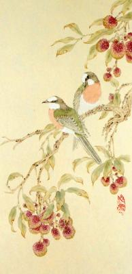 Two birds and lychee. Engardo Anna