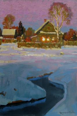 Winter evening is quiet and bright. Volkov Sergey