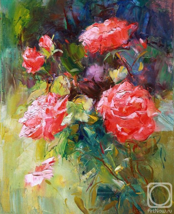 Vyrvich Valentin. The roses in the garden