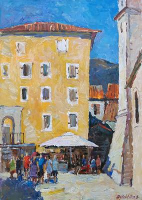 Hot day in the Old Budva (Balkans). Zhukova Juliya
