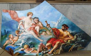"Bouchez's copy ""Venus and Vulcan"" (painting for a caisson, for a ceiling)"