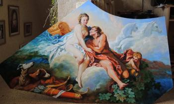 "Bouchez's copy ""Venus and Kefal"" (painting for a caisson for a ceiling)"