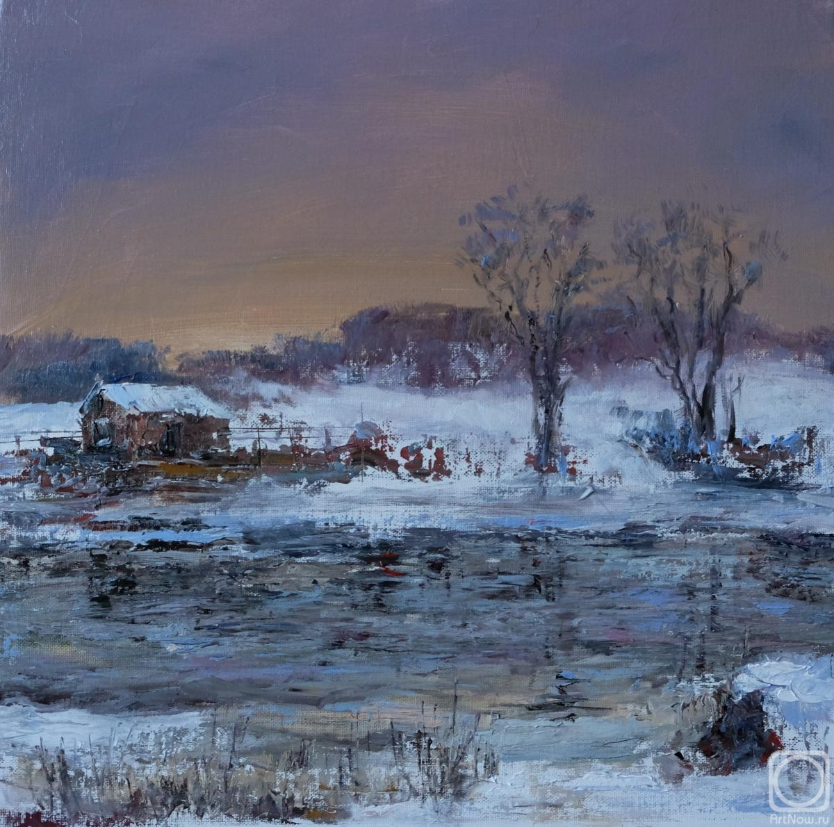 Solovev Alexey. Winters evening