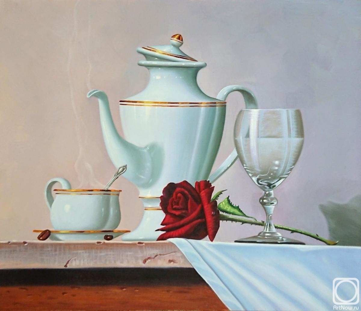 Smorodinov Ruslan. Still life with rose