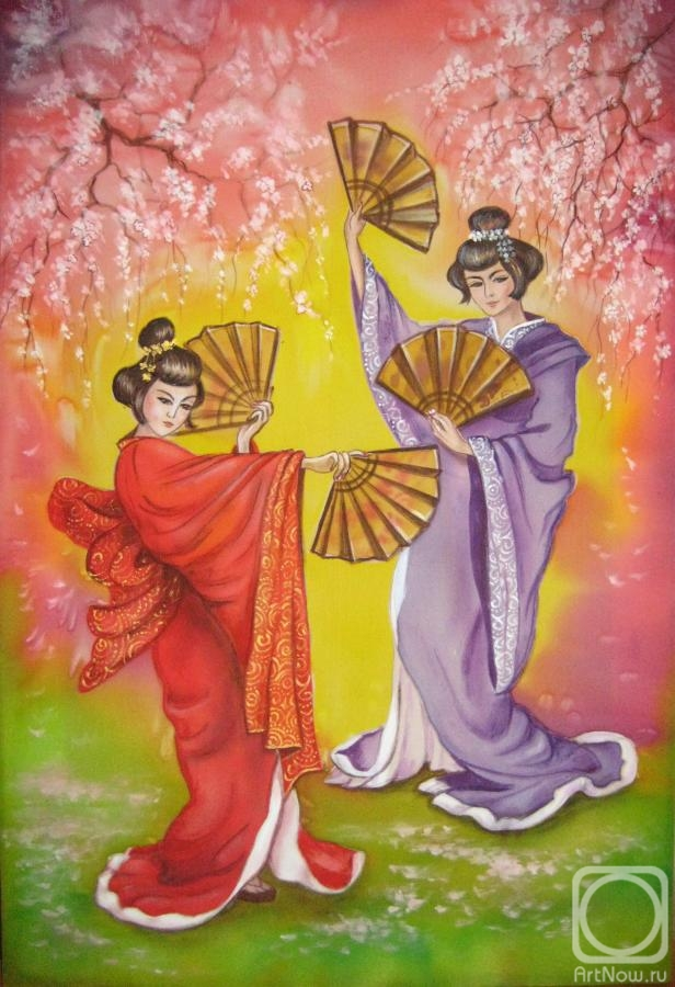 японский танец в картинках таким