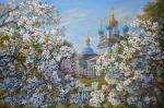 The Apple trees in bloom. Panov Eduard