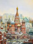 The views of St. Basil's Cathedral. Romm Alexandr