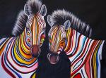 Multicolored zebras N6. Vevers Christina