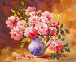 Vlodarchik Andjei. Bouquet of roses in a jug