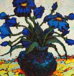Veselovsky Valery. Dark blue flowers (sketch)