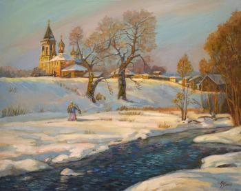 Panov Eduard. Winter river