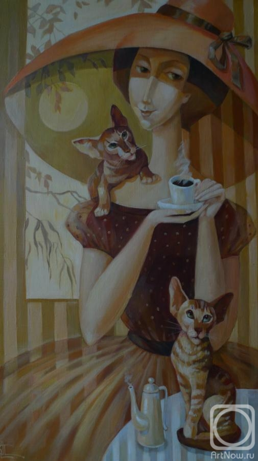 Panina Kira. A Cup of coffee with your favorite cats