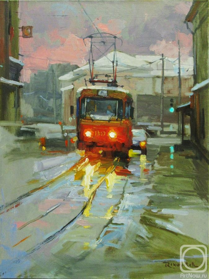 Volkov Sergey. Winter tram