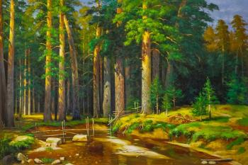 Copy of Ivan Shishkin's painting. Mast-tree grove. Romm Alexandr