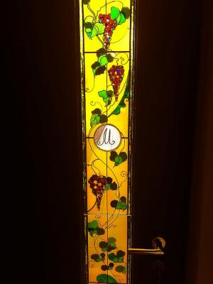 "Stained glass on front door ""Grapes"". Amelkova Ninel"