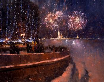 Savchenko Aleksey. New year in St. Petersburg