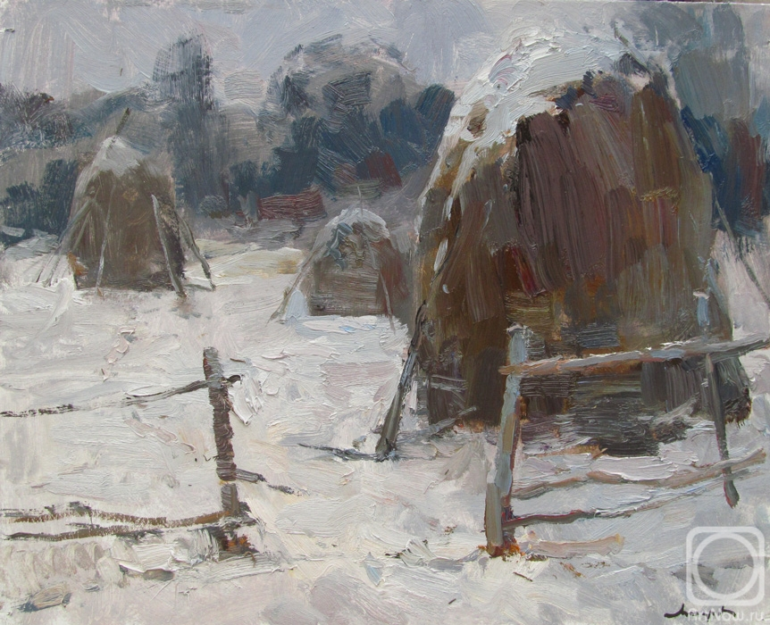 Makarov Vitaly. Winter haystacks