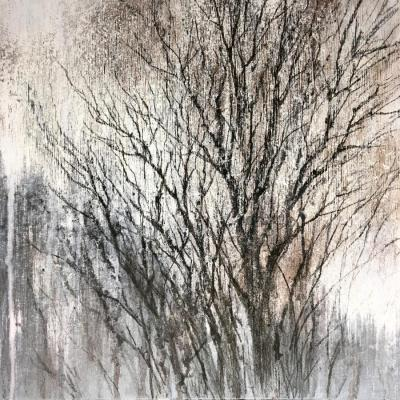 Graphics of winter trees. Shchepetnova Natalia