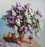 Lilac and fruit