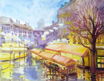 Mikhalskaya Katya. Evening lights of Paris spring