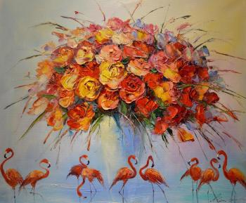 Red flamingo. Moiseyeva Liana