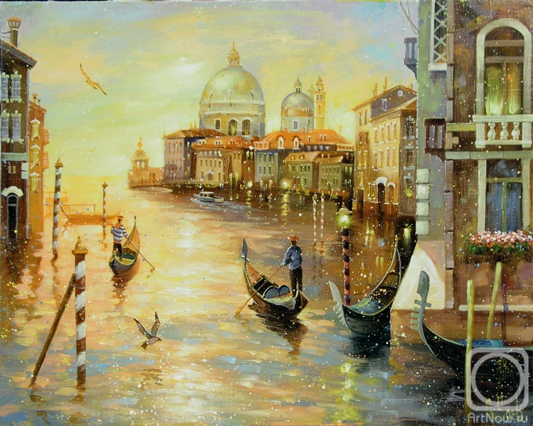 Boev Sergey. Venice at sunset