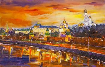 Golden-domed Moscow. Sunset. Rodries Jose