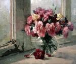 Pryadko Yuri. Flowers on the old window