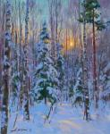 Yurgin Alexander. Evening in the winter forest