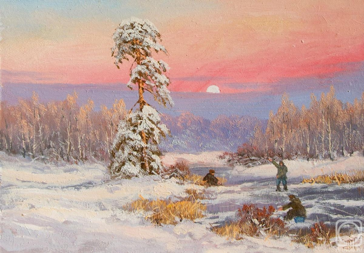 Lyamin Nikolay. The delights of winter fishing