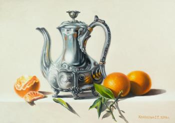 Khrapkova Svetlana. Still life with oranges