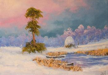 Lyamin Nikolay. The beauty of green pine in the winter forest